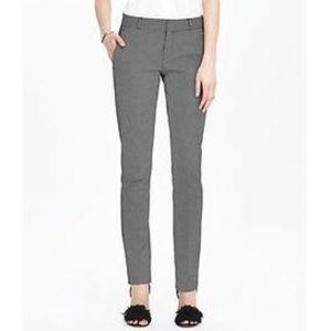 Banana Republic grey slim straight trouser size 4